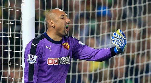 Watford goalkeeper Heurelho Gomes has signed a new contract with the Barclays Premier League club