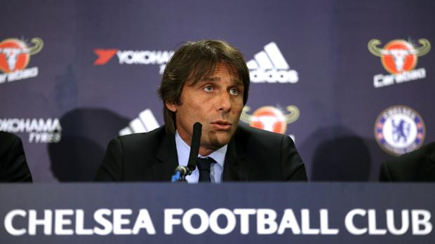 Chelsea new manager Antonio Conte faced the press for the first time