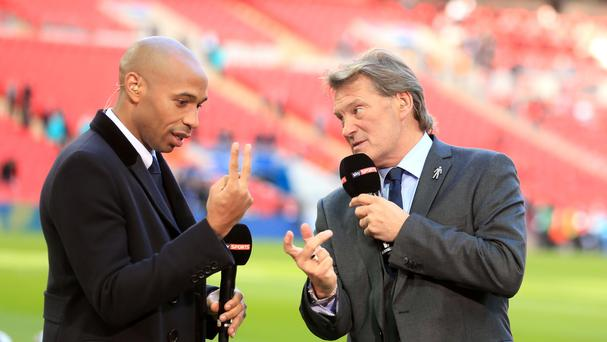 Thierry Henry, pictured left, has been working as a Sky pundit since December