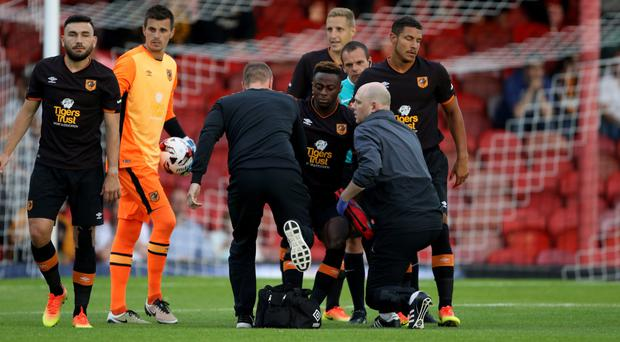 Moses Odubajo suffered the injury in a friendly with Grimsby last week