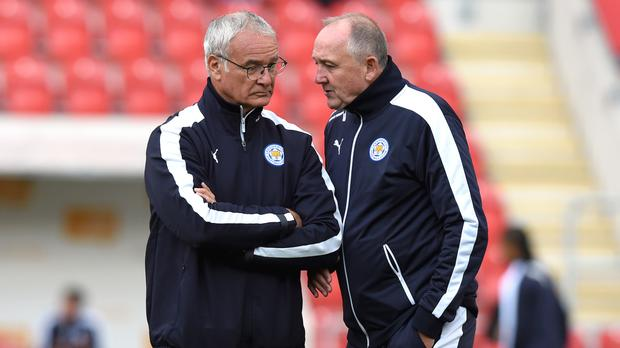 Claudio Ranieri is looking to move on from the departure of Steve Walsh (right)