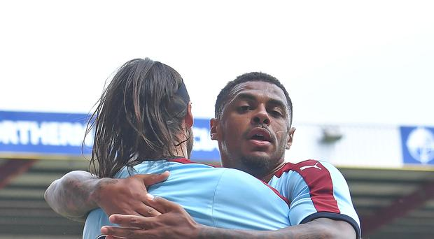 Burnley's Andre Gray scored twice in their 4-1 pre-season victory at Bradford on Saturday.