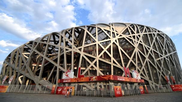 Manchester United had been due to play Manchester City at Beijing's Bird's Nest Stadium until the weather intervened