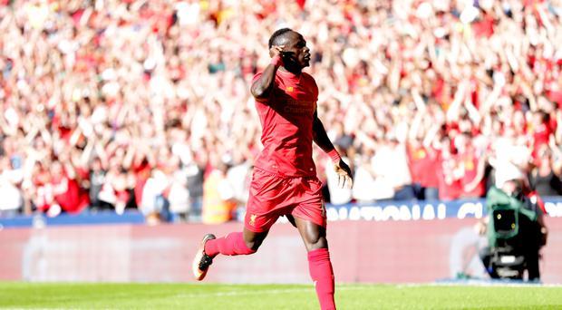 Sadio Mane grabbed his first Liverpool goal in their Wembley friendly against Barcelona
