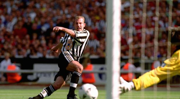Newcastle's Alan Shearer returned to his boyhood club in 1996