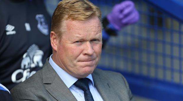 Ronald Koeman is not upbeat about Everton's fitness