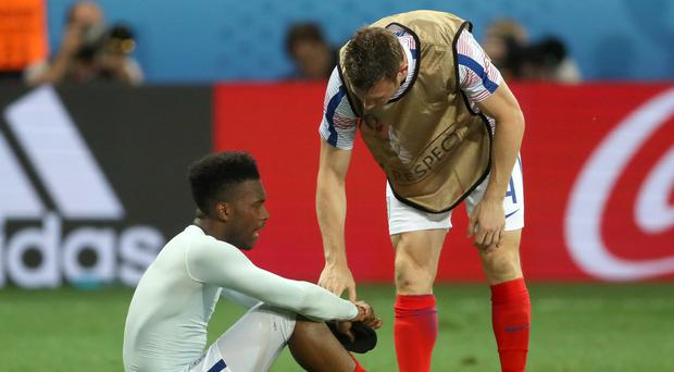 Daniel Sturridge, left, and James Milner are both injury concerns for England