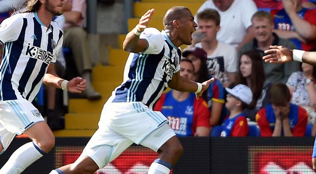 Salomon Rondon celebrates after scoring the winning goal