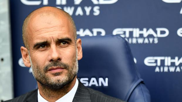 Manchester City manager Pep Guardiola saw his team win their Premier League opener.