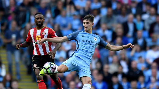 John Stones enjoyed a comfortable debut for Manchester City despite a scare in their 2-1 win over Sunderland.