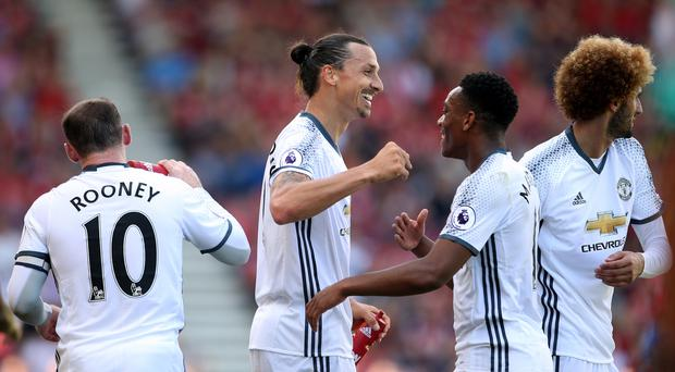 Zlatan Ibrahimovic found the net on his Premier League debut