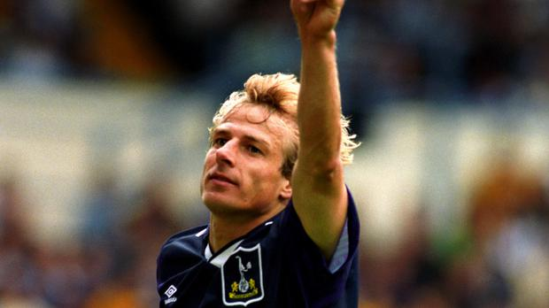 Jurgen Klinsmann made a memorable debut for Tottenham at Hillsborough in 1994