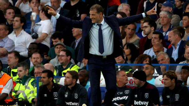 West Ham manager Slaven Bilic was frustrated after his side conceded a late goal to lose at Chelsea