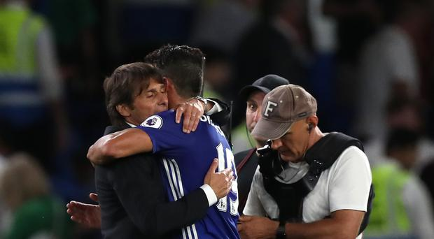 Diego Costa avoided a red card during Chelsea's victory over West Ham