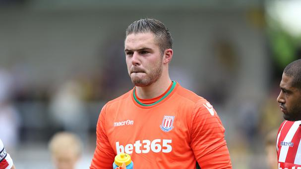 Jack Butland missed Stoke's 1-1 draw at Middlesbrough on Saturday.