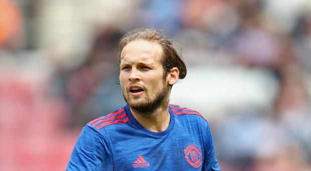 Could Daley Blind, pictured, link up with his compatriot Frank de Boer at Inter Milan?
