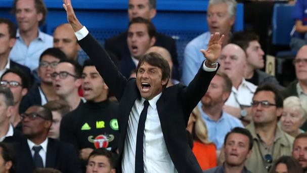 Antonio Conte, pictured, insists there is no feud with Watford boss Walter Mazzarri