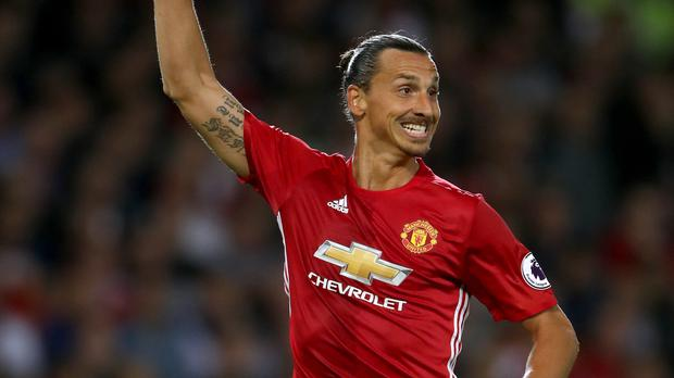 Manchester United forward Zlatan Ibrahimovic scored a brace as Southampton were beaten on Friday night football in the Premier League