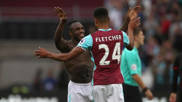 Michail Antonio, left, was West Ham's 'hero'