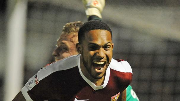 Northampton's Kenji Gorre scored the winning penalty as the Cobblers knocked West Brom out of the EFL Cup on Tuesday.