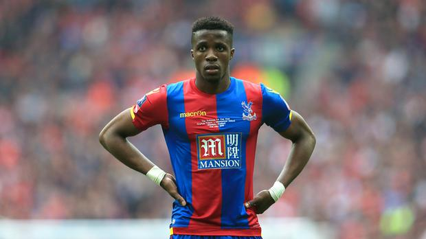Wilfried Zaha has been told he is staying at Palace