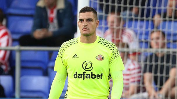 Sunderland goalkeeper Vito Mannone faces a spell on the sidelines
