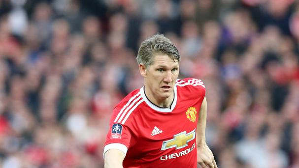 Manchester United's Bastian Schweinsteiger is out in the cold
