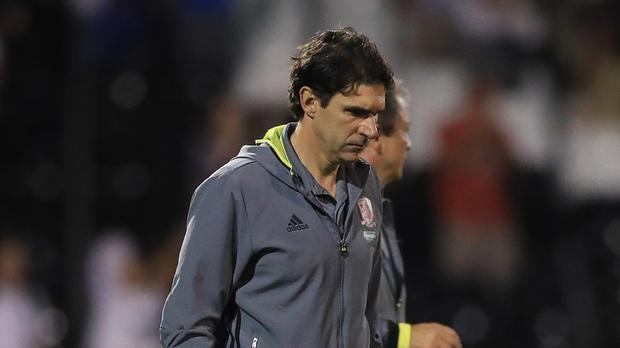 Middlesbrough head coach Aitor Karanka, pictured, holds West Brom counterpart Tony Pulis in the highest regard