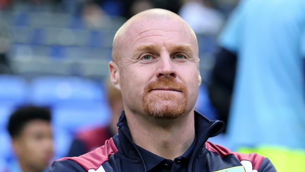 Sean Dyche, pictured, admits Antonio Conte has an embarrassment of riches at Chelsea