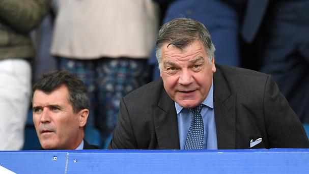 England manager Sam Allardyce (right) at Goodison Park