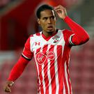 Frustrated: Virgil Van Dijk after draw with Sunderland