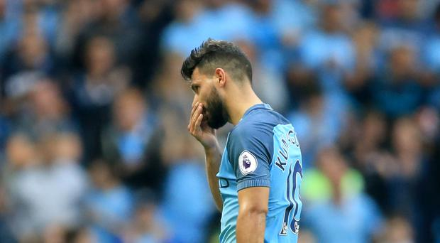 Sergio Aguero was involved in controversy as Manchester City beat West Ham