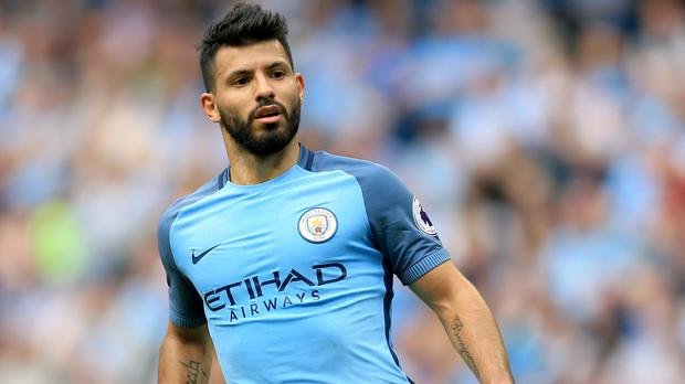 Manchester City's Sergio Aguero has a calf injury