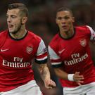 Jack Wilshere, left, and Kieran Gibbs have barely featured for Arsenal