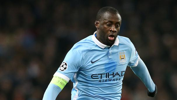 Manchester City's Yaya Toure has not featured in the league under new boss Pep Guardiola