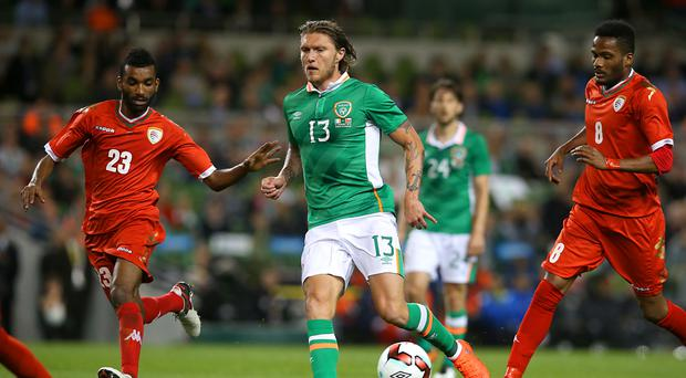 Jeff Hendrick (centre) wants to prove himself at international level and in the Premier League.