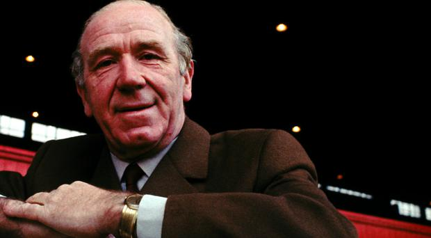 Relatives of former Manchester United manager Sir Matt Busby, pictured, have been moved out of the Old Trafford directors' box