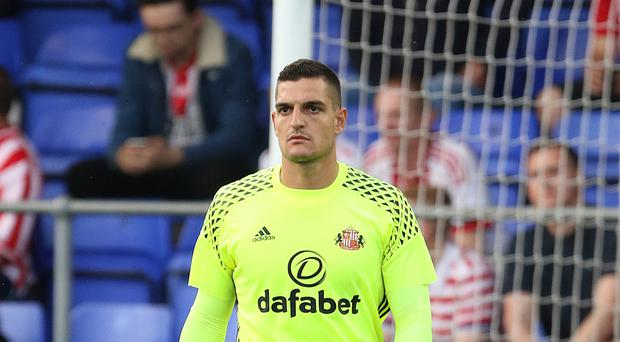 An injury to Vito Mannone, pictured, has prompted David Moyes to buy another goalkeeper at Sunderland