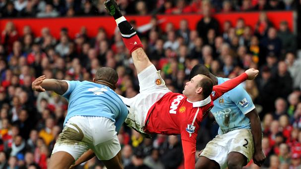 Wayne Rooney has scored a record number of Manchester derby goals
