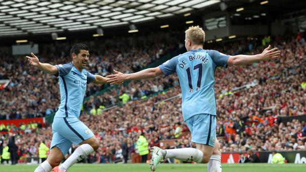 Manchester City's Kevin De Bruyne was the star of the show in the derby