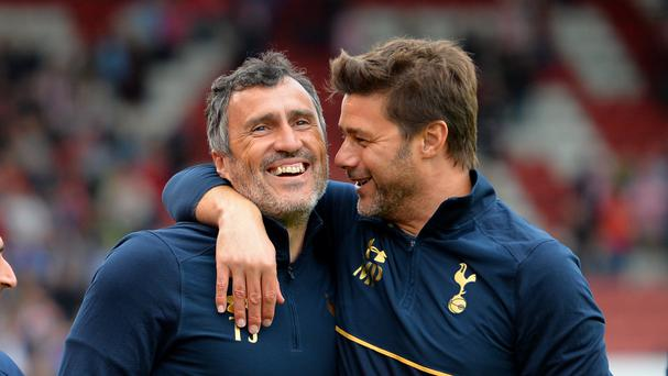 Mauricio Pochettino, right, saw Tottenham thrash Stoke again