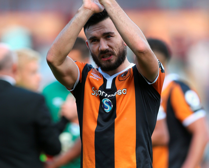 Equaliser: Robert Snodgrass gave Hull a valuable point