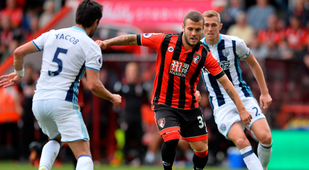 New boy: Jack Wilshere in action on his debut for Bournemouth