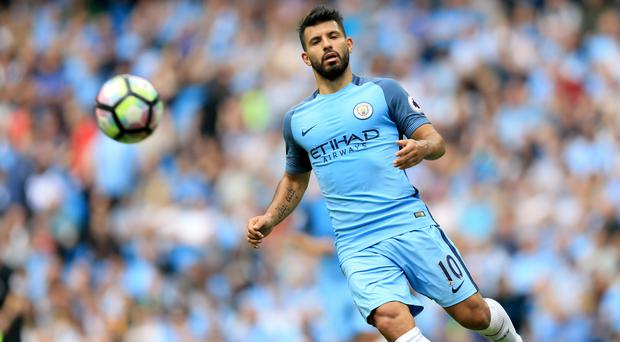 Manchester City's Sergio Aguero was banned for three games for his elbow on Winston Reid