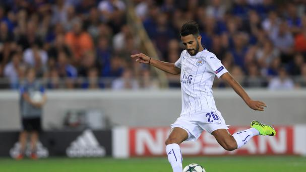 Leicester's Riyad Mahrez wraps up the Foxes' 3-0 Champions League against Club Brugge from the penalty spot.