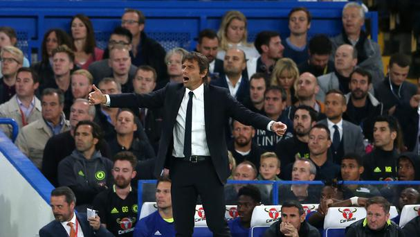 Antonio Conte was on the losing side for the first time as Chelsea boss