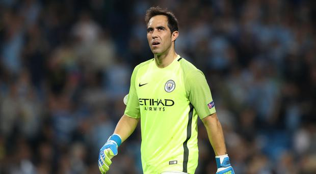 Manchester City goalkeeper Claudio Bravo kept a clean sheet