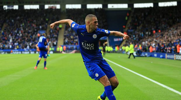 Islam Slimani scored a brace on his Premier League debut for Leicester in their 3-0 victory over Burnley