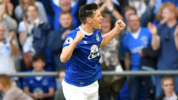 Everton midfielder Gareth Barry marked his 600th Premier League appearance with a goal in the win over Middlesbrough
