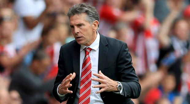 Claude Puel was able to celebrate his first Premier League win as Southampton manager
